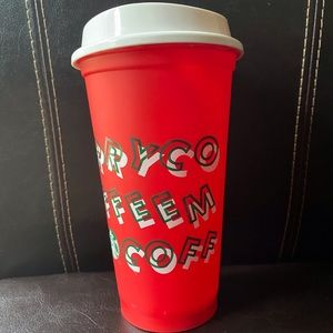 Starbucks Christmas cup with lid. Brand new